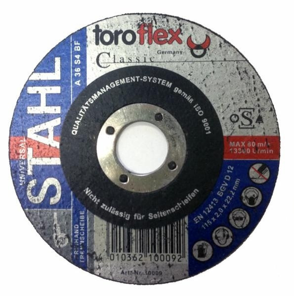 Brusný kotouč TOROFLEX Classic Ø180 x 4,0 x 22,22 mm - na ocel