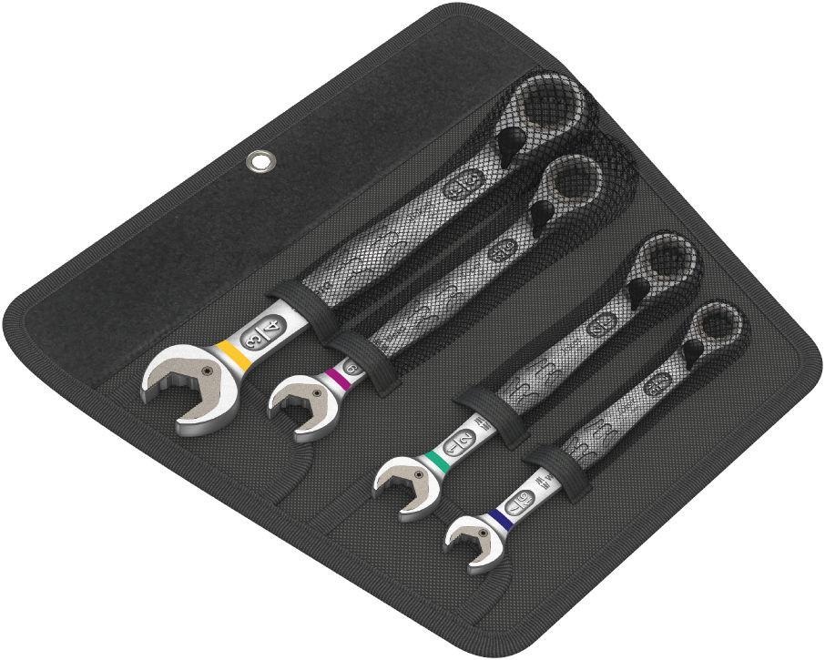 Wera sada otevřených a očkových ráčnových palcových klíčů Joker Switch s přepínací páčkou, 4 dílná