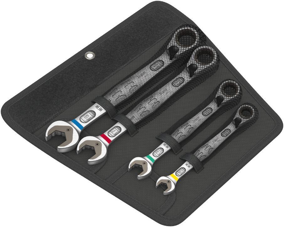 Wera sada otevřených a očkových ráčnových klíčů Joker Switch s přepínací páčkou, 4 dílná