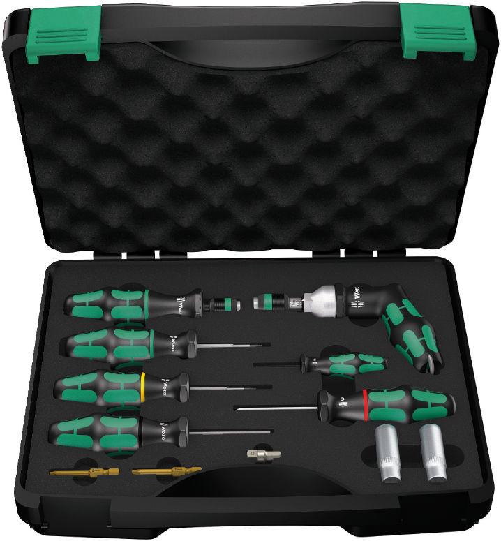 Wera montážní set 7443/12 pro systémy kontroly tlaku v pneumatikách, 12 dílný