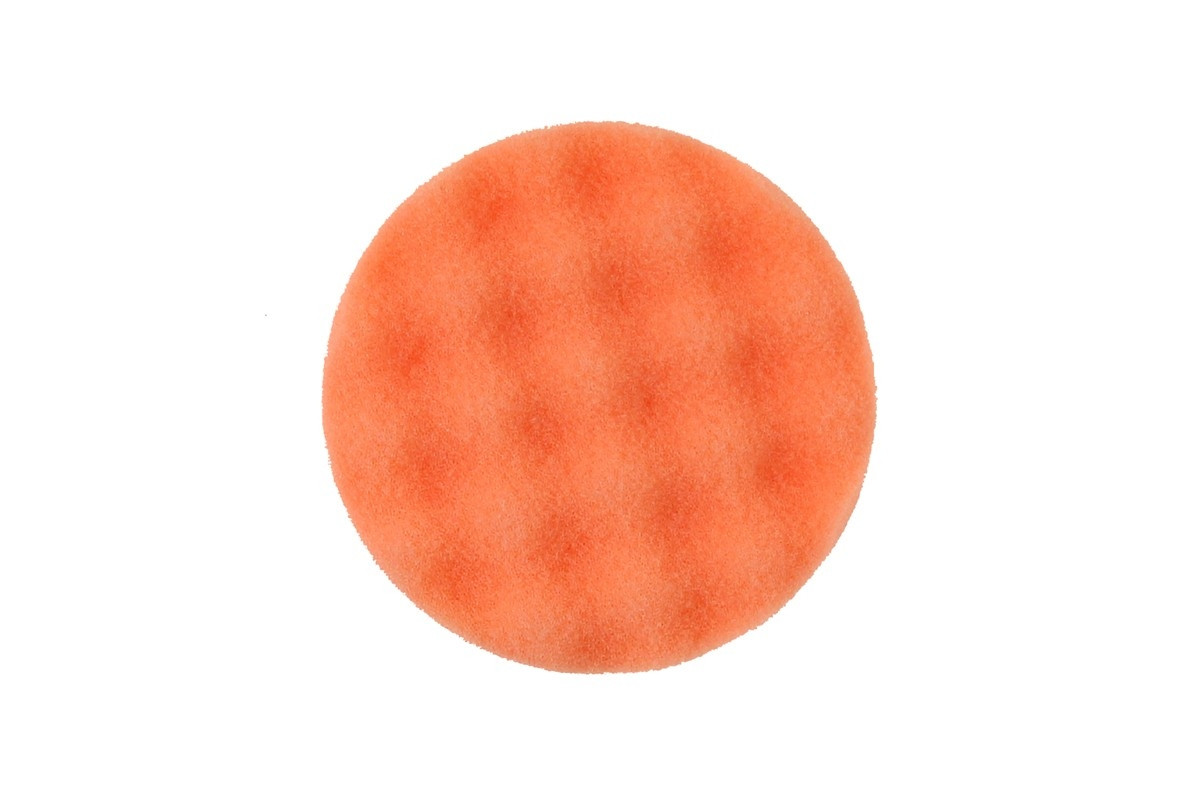 Leštící molitan MIRKA Ø 85 x 25mm, oranžový, vaflový