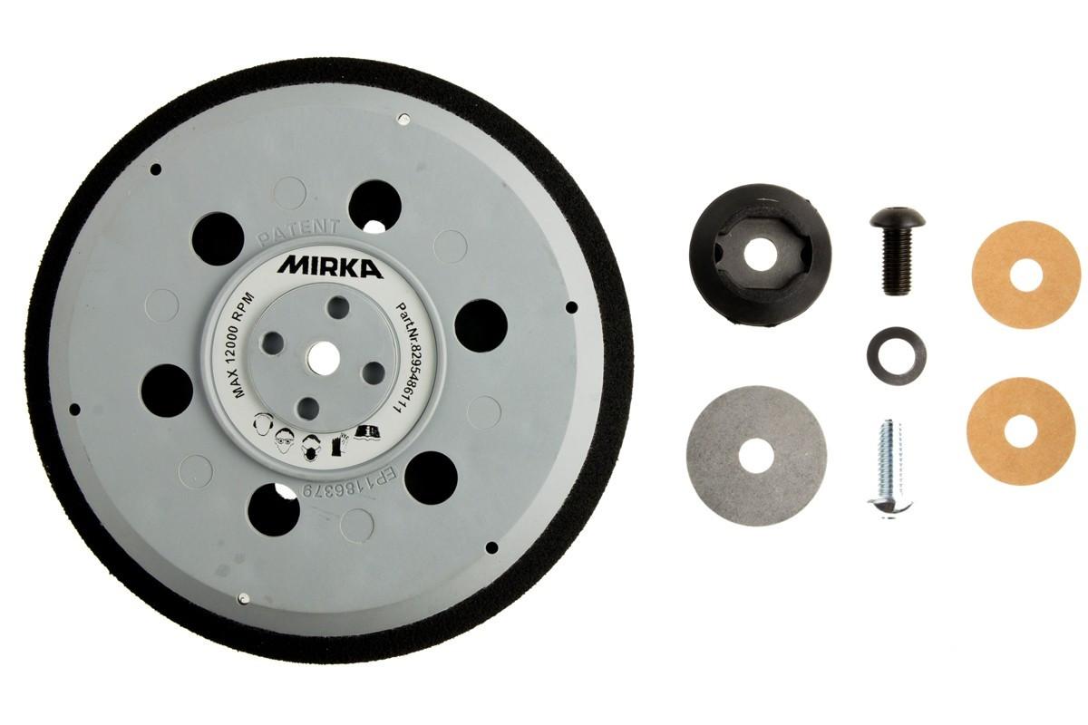 """Univerzální podložný talíř pro Abranet Ø150mm, závit 5/16"""" + M8, 61 děr, střední tvrdost"""