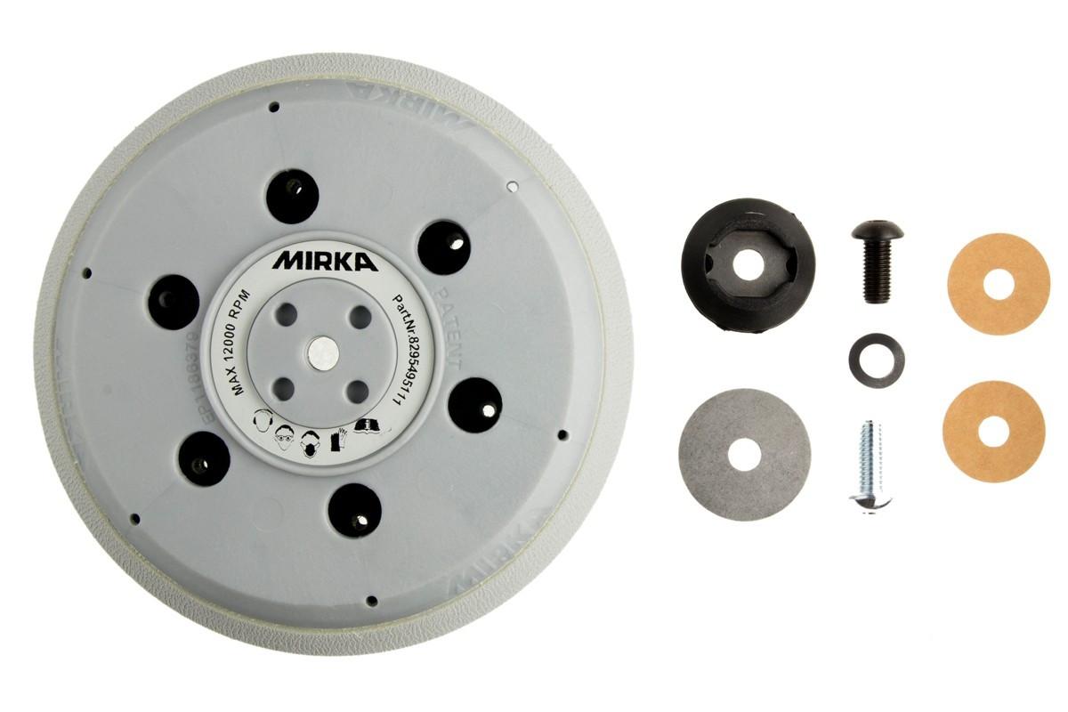 """Univerzální podložný talíř pro Abranet Ø 150mm, závit 5/16"""" + M8, 61 děr, tvrdá tvrdost"""