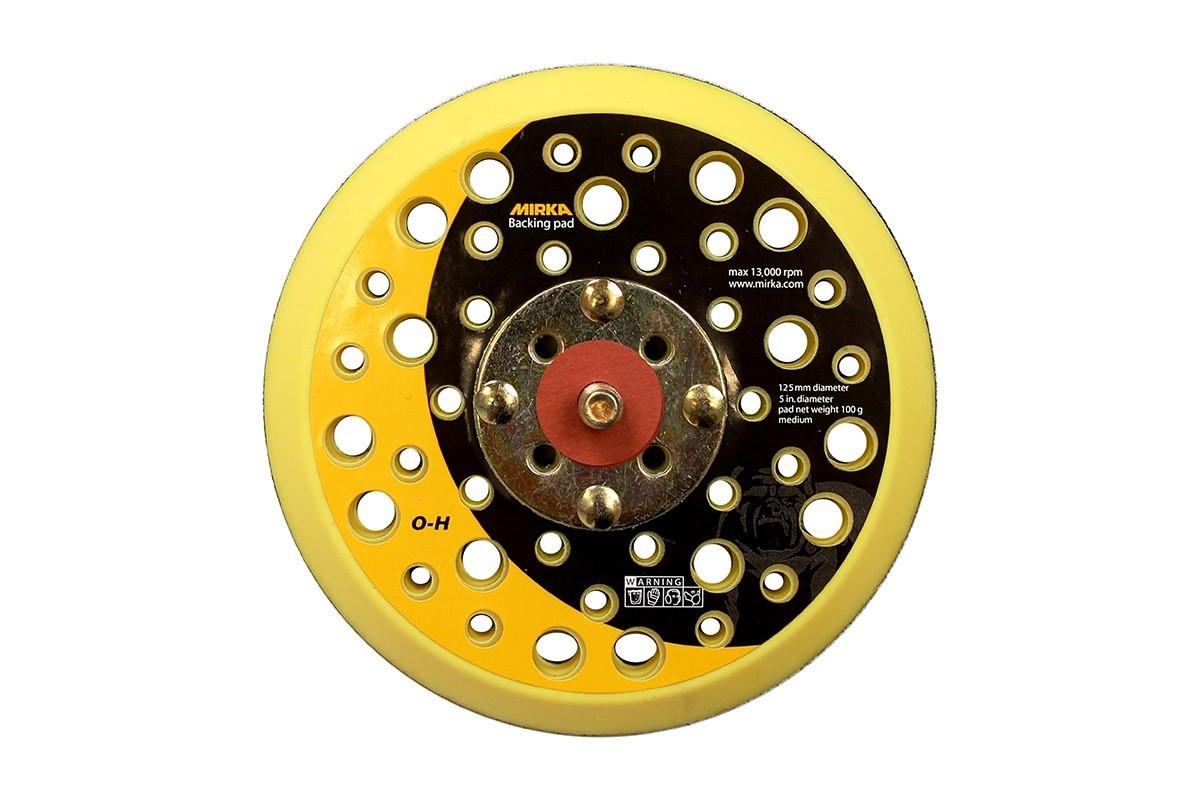 """Podložný talíř MIRKA pro bezprašné broušení Ø125mm, závit 5/16"""", střední tvrdost"""