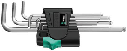 Wera sada zástrčných klíčů 950/7 Hex-Plus 1, metrická, chromovaná, 7 dílná
