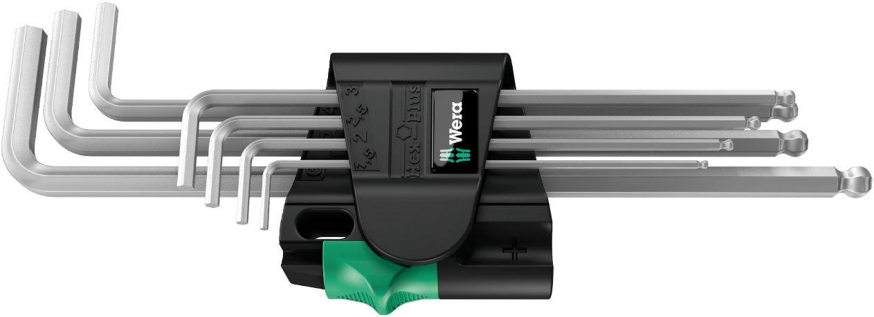 Wera sada zástrčných klíčů 950/7 Hex-Plus Magnet 1, metrická, chromovaná, 7 dílná
