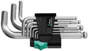 Wera sada zástrčných klíčů 950/9 Hex-Plus 3, metrická, chromovaná, 9 dílná