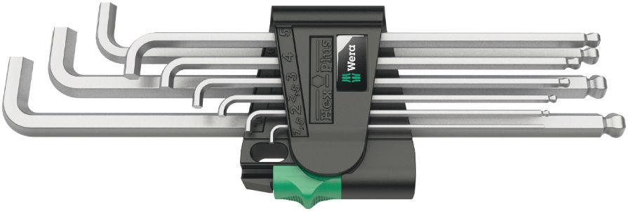 Wera sada zástrčných klíčů 950/9 Hex-Plus 4, metrická, chromovaná, 9 dílná