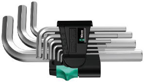 Wera sada zástrčných klíčů 950/9 Hex-Plus 5, metrická, chromovaná, 9 dílná