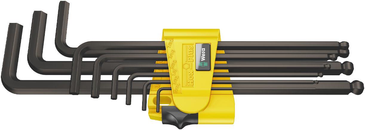 Wera sada zástrčných klíčů 950/9 Hex-Plus Imperial 1, palcová, BlackLaser, 9 dílná