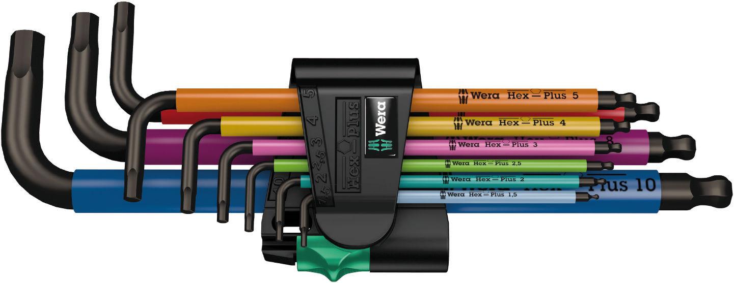 Sada zástrčných klíčů 950/9 Hex-Plus Multicolour 1, metrická, BlackLaser, 9 dílná