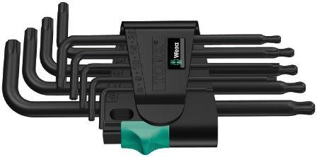Wera sada dlouhých klíčů 967/9 TX 1 pro šrouby s vnitřním profilem TORX, BlackLaser, 9 dílná