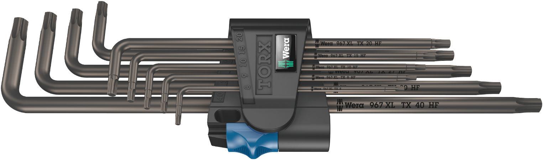 Wera sada dlouhých zástrčných klíčů s přidržovací funkcí 967/9 TX XL HF 1 pro šrouby s vnitřním profilem TORX, 9 dílná