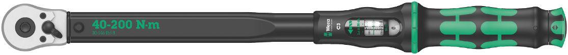 """Wera momentový klíč Click-Torque C3 s přepínací ráčnou o délce 510mm, připojovací rozměr 1/2"""" pro čtyřhran, nastavitelný moment 40 až 200 Nm"""
