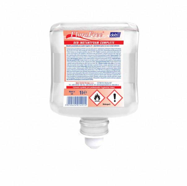 Bezoplachová pěnová dezinfekce Deb InstantFoam Complete 1L