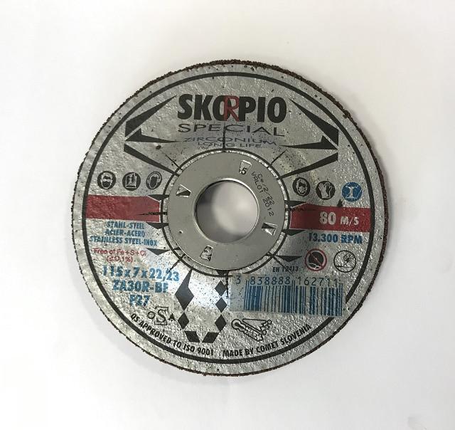 Brusný kotouč Skorpio SPECIAL ZA Ø115 x 7,0 x 22,22 mm
