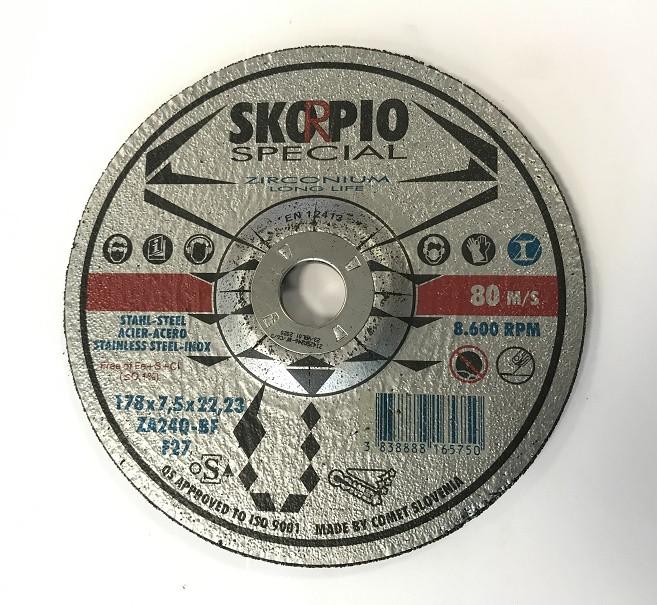 Brusný kotouč Skorpio SPECIAL ZA Ø180 x 7,5 x 22,22 mm