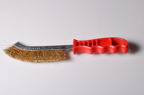 Ruční drátěný kartáč lištový, ocel 0,3 vlnitá