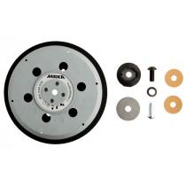 """Univerzální podložný talíř pro Abranet Ø 150mm, závit 5/16"""" + M8, 57 děr, střední tvrdost"""
