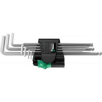 Sada zástrčných klíčů 950/7 Hex-Plus Magnet 1, metrická, chromovaná, 7 dílná