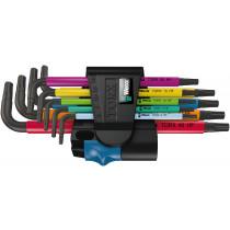 Wera sada zástrčných klíčů s přidržovací funkcí 967/9 TX Multicolor HF 1 pro šrouby s vnitřním profilem TORX, 9 dílná