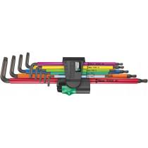 Wera sada dlouhých zástrčných klíčů 967/9 TX XL Multicolor 1 pro šrouby s vnitřním profilem TORX, 9 dílná