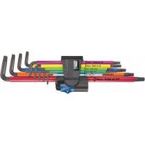 Sada dlouhých zástrčných klíčů s přidržovací funkcí 967/9 TX XL Multicolor HF 1 pro šrouby s vnitřním profilem TORX, 9 dílná