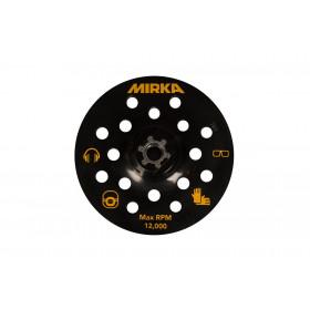 Podložný talíř pro leštičku Ø125mm, M14, suchý zip, 17 děr - pro broušení